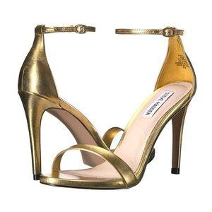 Steve Madden Stecy Gold Strappy Heel